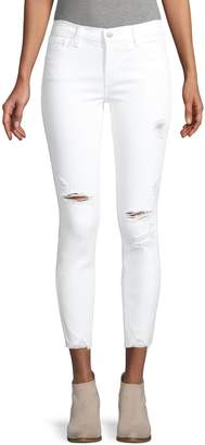 J Brand Mid-Rise Crop Skinny Jeans