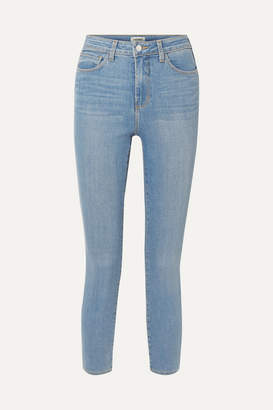 L'Agence Margot Cropped High-rise Stretch Skinny Jeans - Mid denim