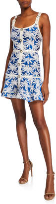 Alexis Lisel Palm-Print Dress