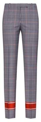 HUGO Boss Regular-fit checked cigarette pants contrast stripes 4 Patterned