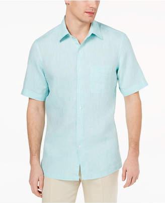 Tasso Elba Men's Island Linen Shirt, Created for Macy's