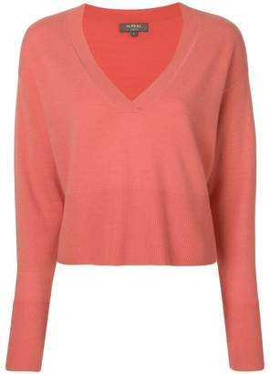 N.Peal deep V-neck cropped jumper