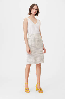 Rebecca Taylor Tailored Textured Tweed Pencil Skirt