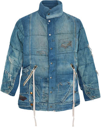 Greg Lauren Vintage Denim Puffer Jacket