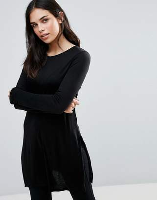 Dex Long Sleeve Skater Jersey Dress