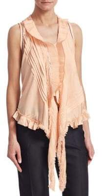 Chloé Stretch Silk Ruffle Blouse