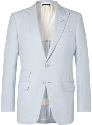 Tom Ford Light-Blue O'Connor Slim-Fit Linen Suit Jacket