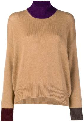 Marni contrast-trim knitted jumper