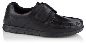 George Black Leather 1 Strap Shoes