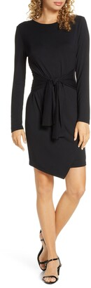 Fraiche by J Long Sleeve Asymmetrical Hem Dress