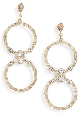 Women's Ettika Double Hoop Earrings $40 thestylecure.com