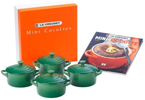 Le Creuset Mini Cocottes Gift Set Fennel