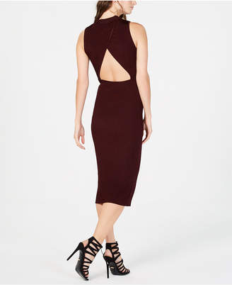 Bar III Open-Back Sweater Dress
