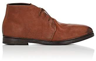 Elia Maurizi MEN'S BURNISHED LEATHER CHUKKA BOOTS