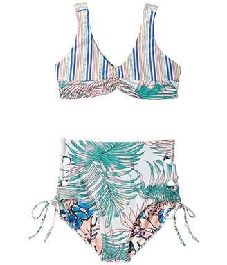 Maaji Kids Rose Island High-Waist Bikini Set (Toddler/Little Kids/Big Kids)