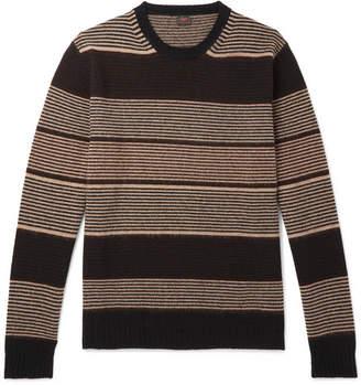 Piombo Mp Massimo MP Massimo Striped Wool Sweater - Brown