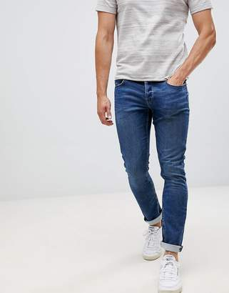 ONLY & SONS Jeans In Slim Fit Washed Blue Denim