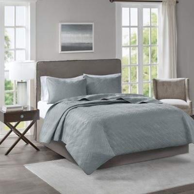 Bed Bath & Beyond 510 Designs Lucca Full/Queen Coverlet in Grey