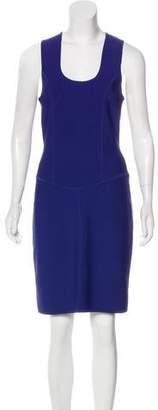 Herve Leger Sleeveless Knee-Length Bodycon Dress