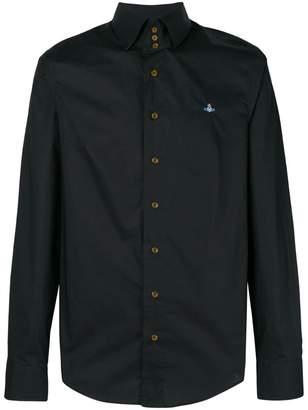 Vivienne Westwood logo embroidered button-down shirt