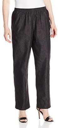 Alfred Dunner Women's Petite Denim Proportioned Medium Pant