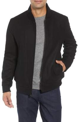 Andrew Marc Barlow Wool Blend Bomber Jacket