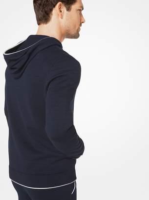 Michael Kors Cotton-Blend Zip-Up Hoodie