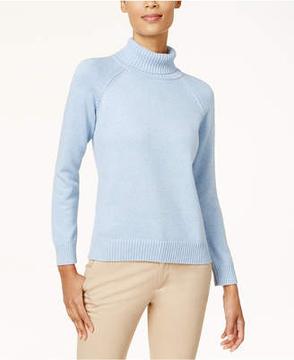Karen Scott Cotton Turtleneck Sweater
