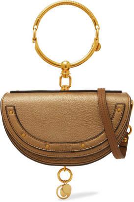 Chloé Nile Bracelet Mini Metallic Textured-leather Shoulder Bag - Gold