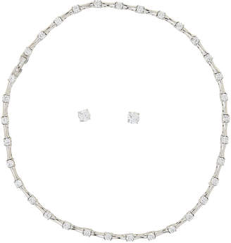 Crislu Sterling Silver Necklace & Earrings Set