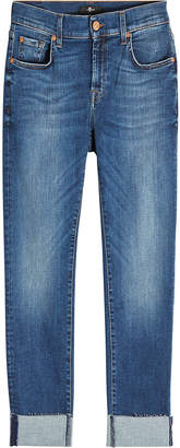 7 For All Mankind Relaxed Skinny Jeans with Raw Hem