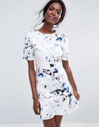 Asos DESIGN Marble T-Shirt Scuba Pephem Mini Dress