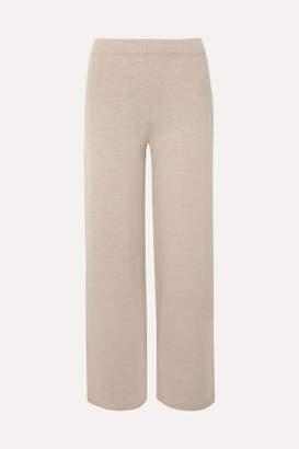 Max Mara Leisure Wool Wide-leg Pants - Beige