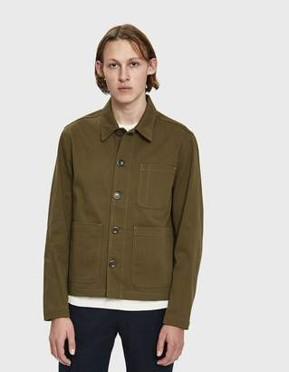 Norse Projects Tyge Service Twill Jacket in Sitka Green