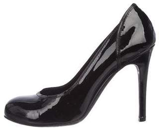 Rochas Patent Leather Round-Toe Pumps