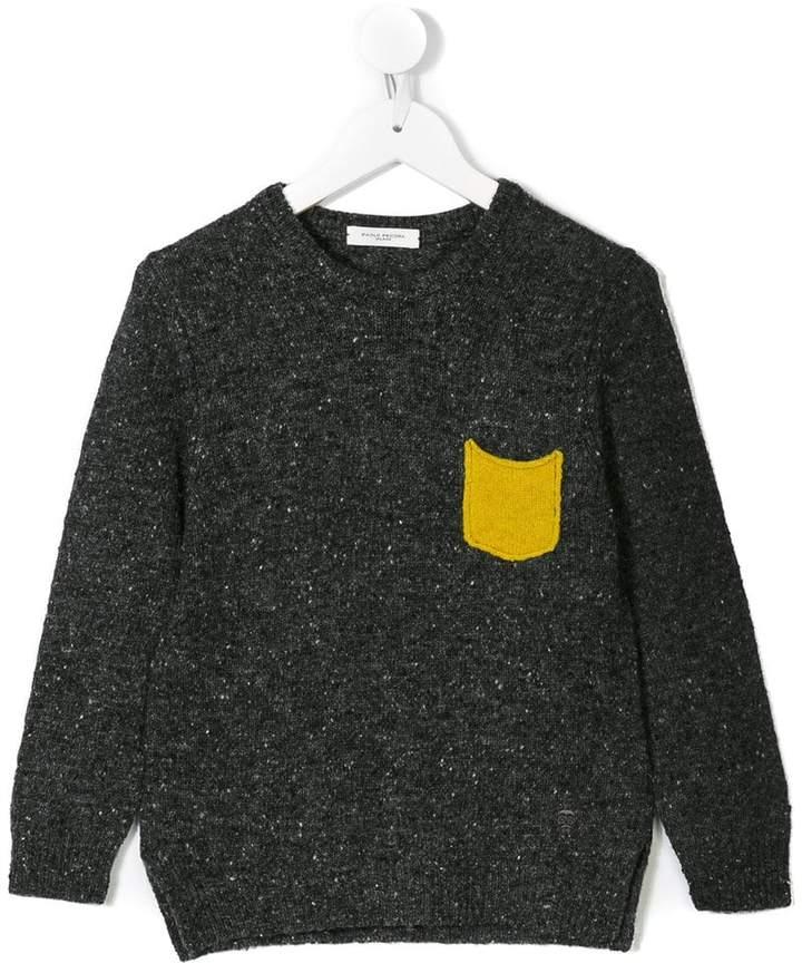Paolo Pecora Kids chest pocket jumper