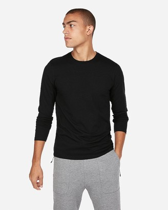 Express Slim Stretch Long Sleeve Crew Neck Tee