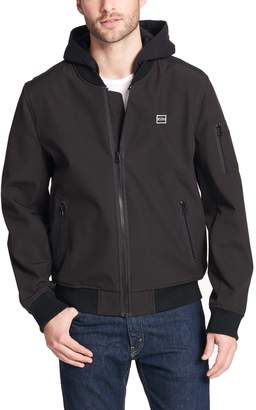 Levi's Levis Men's Hooded Softshell Varsity Bomber Jacket