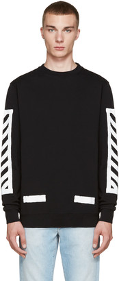 Off-White Black Brushed Diagonals Pullover $360 thestylecure.com