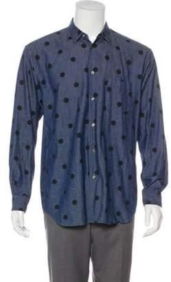 Comme des Garçons Shirt Polka Dot Chambray Shirt black Comme des Garçons Shirt Polka Dot Chambray Shirt