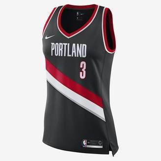 Nike Damian Lillard Icon Edition Swingman (Portland Trail Blazers) Women's NBA Connected Jersey