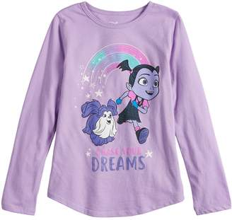"""Disney's Vampirina Girls 4-10 """"Chase Your Dreams"""" Graphic Tee by Jumping Beans"""