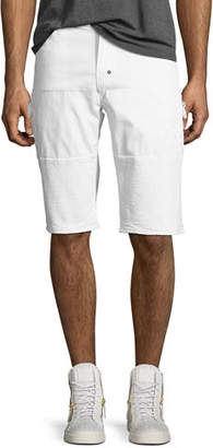 PRPS Solid Twill Moto Shorts