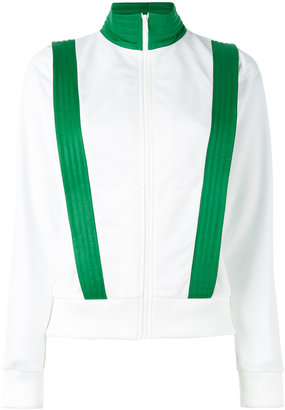 contrast trim fitted jacket