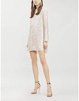 NEEDLE AND THREAD Shimmer sequinned mini dress