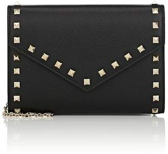 Valentino Women's Rockstud Leather Chain Wallet