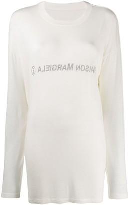MM6 MAISON MARGIELA inside out logo sweater