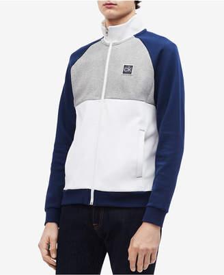 Calvin Klein Men's Colorblocked Mock-Neck Jacket