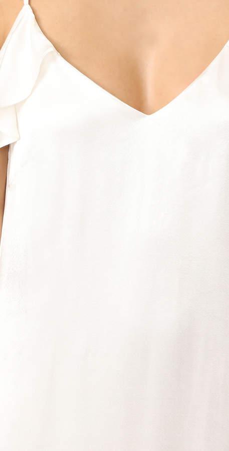 WAYF Costa Ruffle Cold Shoulder Slip Dress 4