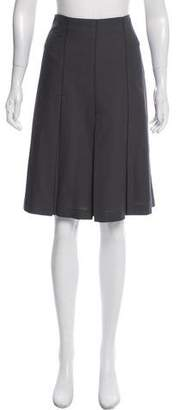Tocca Pleated A-Line Skirt